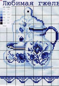 Вышивка крестом кофейная тема схемы