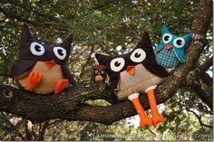 Leuke How-to om deze grappige uilen-knuffels te maken...mét patroon!!