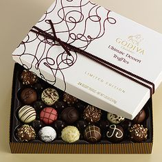 One of my gifts from my Love for Valentines Day~Godiva Ultimate Dessert Truffles. Amazing!!!