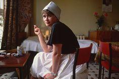 Taking a breather: Hospital nurse Ludmilla Subocheva smokes on her break in the dining room. Photo: Peter Turnley