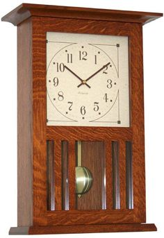 """Amish Mission Wall Clock  I went ahead and bought it yesterday. I cannot wait to take pics of the finished product of our arts and crafts home. """""""