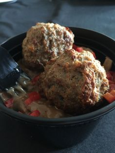 M &M Meatball Provolone Mashed Potatoes & Brown Wild Mushroom Gravy - For the Ski Hills grab and go Wild Mushrooms, Stuffed Mushrooms, Ski Hill, Mushroom Gravy, Meatball, Vancouver, Mashed Potatoes, Brown, Ethnic Recipes