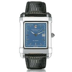 "Dartmouth College Men's Swiss Watch - Blue Quad Watch with Leather Strap by M.LaHart & Co.. $229.00. Three-year warranty.. Swiss-made quartz movement with 7 jewels.. Attractive M.LaHart & Co. gift box.. Classic American style by M.LaHart. Officially licensed by Dartmouth College. Dartmouth College men's steel watch featuring Dartmouth shield at 12 o'clock and ""Dartmouth College"" inscribed below on blue dial. Swiss-made quartz movement with 7 jewels. Blue dial w..."