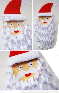 Wonderful collection of 15 fun Santa Crafts kids can make! Paper plate crafts, popsicle crafts, handprint crafts, ornament crafts, and more! Christmas Arts And Crafts, Santa Crafts, Ornament Crafts, Noel Christmas, Christmas Activities, Christmas Projects, Holiday Crafts, Christmas Decorations, Father Christmas