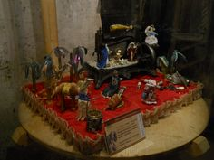 An original crib made with tailor objects.