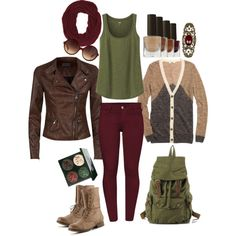 """Fall Outfit #3"" by kristenmakesart on Polyvore"