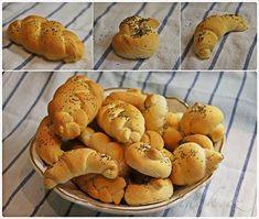 Zobrazit detail - Recept - Bílé pšeničné pečivo Slovak Recipes, Pretzel Bites, Muffin, Pizza, Bread, Baking, Breakfast, Food, Dumplings