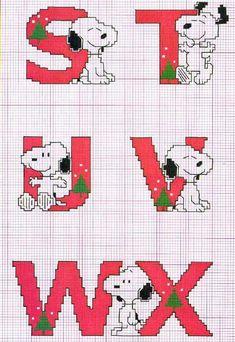 Schema punto croce Snoopy-svtuwx