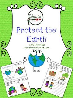 Earth Day Mini-Book Freebie from Education to the Core! Pop up book about plants Science Classroom, Science Education, Teaching Science, Classroom Activities, Teaching Resources, Classroom Ideas, Teaching Ideas, Classroom Freebies, Kindergarten Science