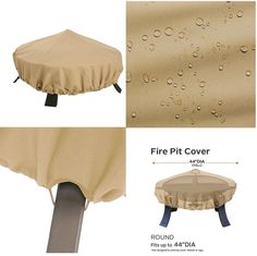 Furniture defender light brown waterproof outdoor patio fire pit protector cover #PerfectAllinaceLad