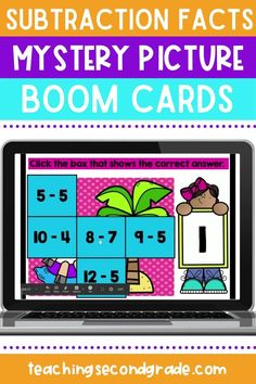 If you are looking for fun ways to teach or practice subtraction facts with your kindergarten, 1st grade, or 2nd grade students while distance learning, you need these Boom cards! Your students will play a fun mystery picture game while practicing their subtraction skills, and the best part is, they get instant feedback so no grading for you! This activity includes 3 different pictures with 9 problems each. #subtractionpractice #subtractionworksheets #distancelearning #teachingsubtraction Teaching Subtraction, Subtraction Worksheets, How To Get Credit, Teaching Second Grade, Addition Facts, Some Cards, Task Cards, Work On Yourself, Activities