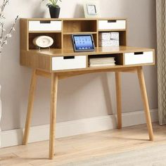 Convenience Concepts Oslo Writing Desk with Hutch
