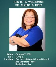 Tonight's the night!  Come join us in Doylestown, Pa to welcome Dr. Alveda @alvedaking