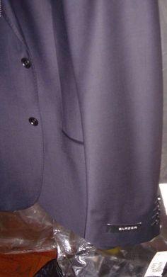 Blazer Navy Blue Tux M Jacket Size 44 Reg 2 Button Machine Washable  New NWT #Blazer #TwoButton