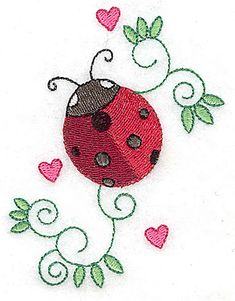Grand Sewing Embroidery Designs At Home Ideas. Beauteous Finished Sewing Embroidery Designs At Home Ideas. Lady Bug Tattoo, Shirt Embroidery, Embroidery Stitches, Embroidery Patterns, Ladybug Art, Ladybug Crafts, Mothers Day Crafts For Kids, Embroidery Techniques, Machine Embroidery Designs