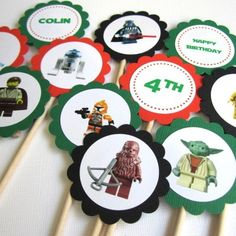 Logans Star Wars Lego Party - Cupcake Topper Ideas?