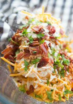Savory Bacon Cheese Ball - cream cheese, shredded cheese, bacon and seasoning in a bowl Family Fresh Meals, Easy Family Meals, Quick Easy Meals, Family Recipes, Potluck Recipes, Easy Recipes, Bacon Salad, Bacon Bacon, Bacon Appetizers