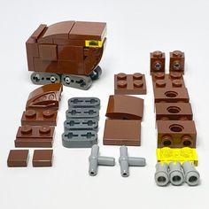 Micro Sandcrawler - all parts shown : lego