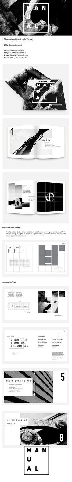 Manual de Identidade JP Engenharia by Yasmin de Lima, via Behance
