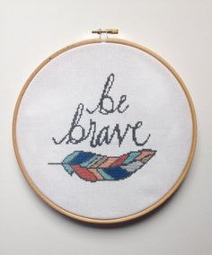 A lovely reminder to be brave for yourself or to gift to someone else. This kit incorporates modern calligraphy with cross stitch and includes