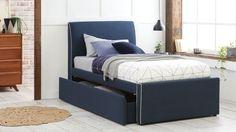 Home :: Bedroom :: Kids Bedroom :: Kids Beds :: Hunter Trundle Bed Frame with Storage