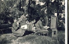 "Lotta Svard Signals personnel operating a ""B-Radio"""