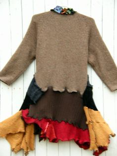 One of a Kind Bohemian Sweater Coat by JacketsbyJahne on Etsy, $175.00
