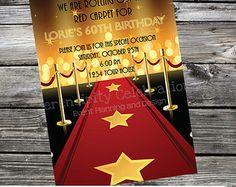 DIY Personalized Invitation: Red Carpet -Digital Invitation by Serendipity Celebrations -You Print -Printable Invite