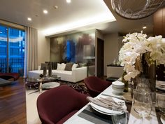 Quattro by Sansiri Location: Bangkok, Thailand Interior Designer: dwp Residential Interior Design, Table Settings, Bangkok Thailand, Bedroom, Architecture, Luxury, Modern Living, Living Rooms, Projects