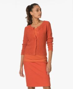 Shop the look - Fashionably ton-sur-ton Orange Fashion, Bright Spring, Color Shapes, Kos, Model, Sweaters, Inspiration, Shopping, Colors