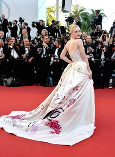 Elle Fanning attends the Ismael's Ghost screening and opening gala at the 70th annual Cannes Film Festival
