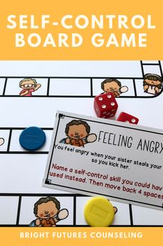 This self-control board game is a fun self-control activity for kids! Students discuss feeling frustrated feeling angry and self-control coping skills. This is great for an elementary school counseling small group or individual session. Elementary School Counselor, School Counseling, Elementary Schools, Group Counseling, Counseling Activities, Activities For Kids, Health Activities, Group Activities, School Social Work