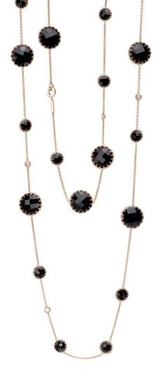 The Ivanka Trump rose gold and black onyx necklace at London Jewelers!
