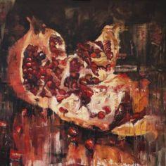 """Saatchi Art Artist Misha and Nastasja Mishinsky; Painting, """"garnet"""" #art"""