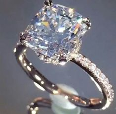 Elegant Micro Pave' Engagement ring # bhjewelers.com #beverlyhills #cushioncut #engagementrings