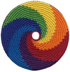rainbow crochet | PhD Pocket Disc Crocheted Frisbee Disc Soft Flying Disc
