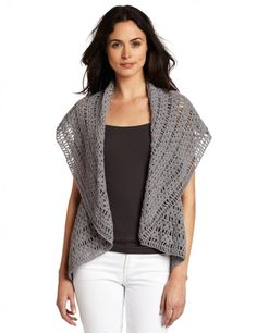 Pretty crochet vest.