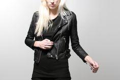 OAK women's perf/washed rider jacket