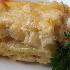 Chicken Lasagna II--made with ricotta instead of cottage cheese, was pretty good, not as good as I had hoped though.