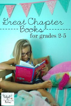 great chapter books for grades 2-5   GidgetGoesHome.com #reading #kids