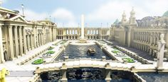 This project is a recreation of the Chicago World's Fair/Columbian Exposition that was held as a celebration to honor Columbus' voyage. I began this project in December of 2016 and after break Minecraft Bridges, Mine Minecraft, Minecraft Official Site, World's Columbian Exposition, Minecraft Architecture, Minecraft Projects, White City, World's Fair