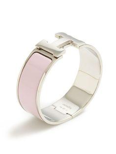 Hermès Hermes Clic-Clac H Pink Wide Enamel Bracelet