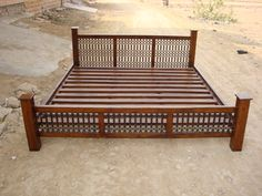Indian Wooden Storage Bed | Wooden Double Bed | Wooden Beds from India | Sheesham Wood Beds Jodhpur