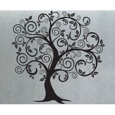 For the family room... going to fill in the leaves with family photos in green frames, our family tree!