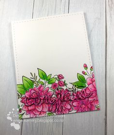 Hi! I've had some fun just playing in my craft room today and made a card using the sketch from CAS(E) This Sketch , the pink and green the...