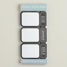 One of my favorite discoveries at WorldMarket.com: Chalkboard Sticky Note Tabs