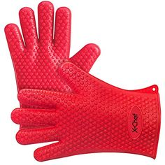 Silicone Gloves, X-Chef Heat Resistant Oven Mitts BBQ Gloves - http://freebiefresh.com/silicone-gloves-x-chef-heat-resistant-oven-review/