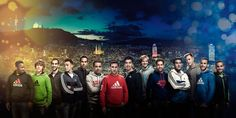 """FC Barcelona at """"Give Sport, Give Adidas"""" Christmas 2015 event."""