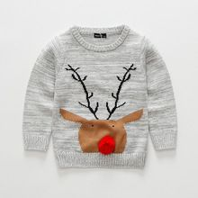 Bobo Choses 2016 Knitted Baby Sweaters Autumn Winter Cotton Elk Baby Boys and Girls Sweater Clothing Christmas 5pcs/lot(China (Mainland))