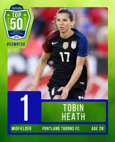 Tobin Heath | FourFourTwo's USWNT Top 50: No. 1 (12.23.2016)